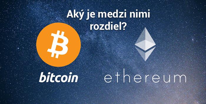 Bitcoin vs. Ethereum – aký je medzi nimi rozdiel?