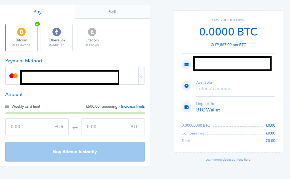 coinbase limity